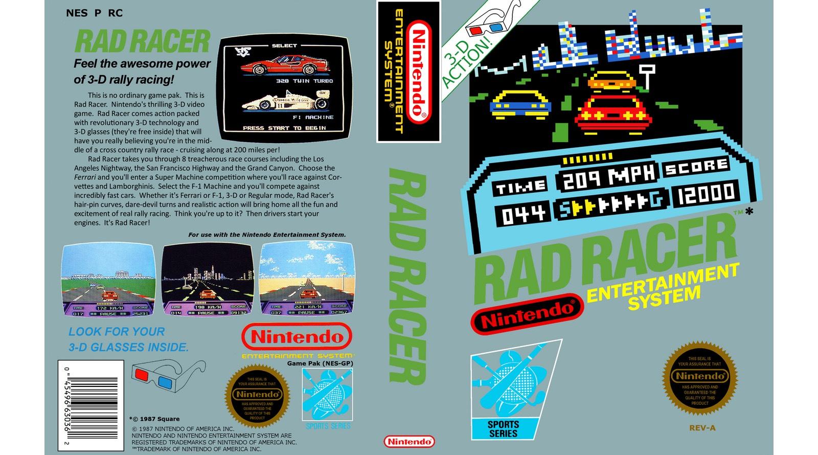 Rad Racer Review Nintendo Times