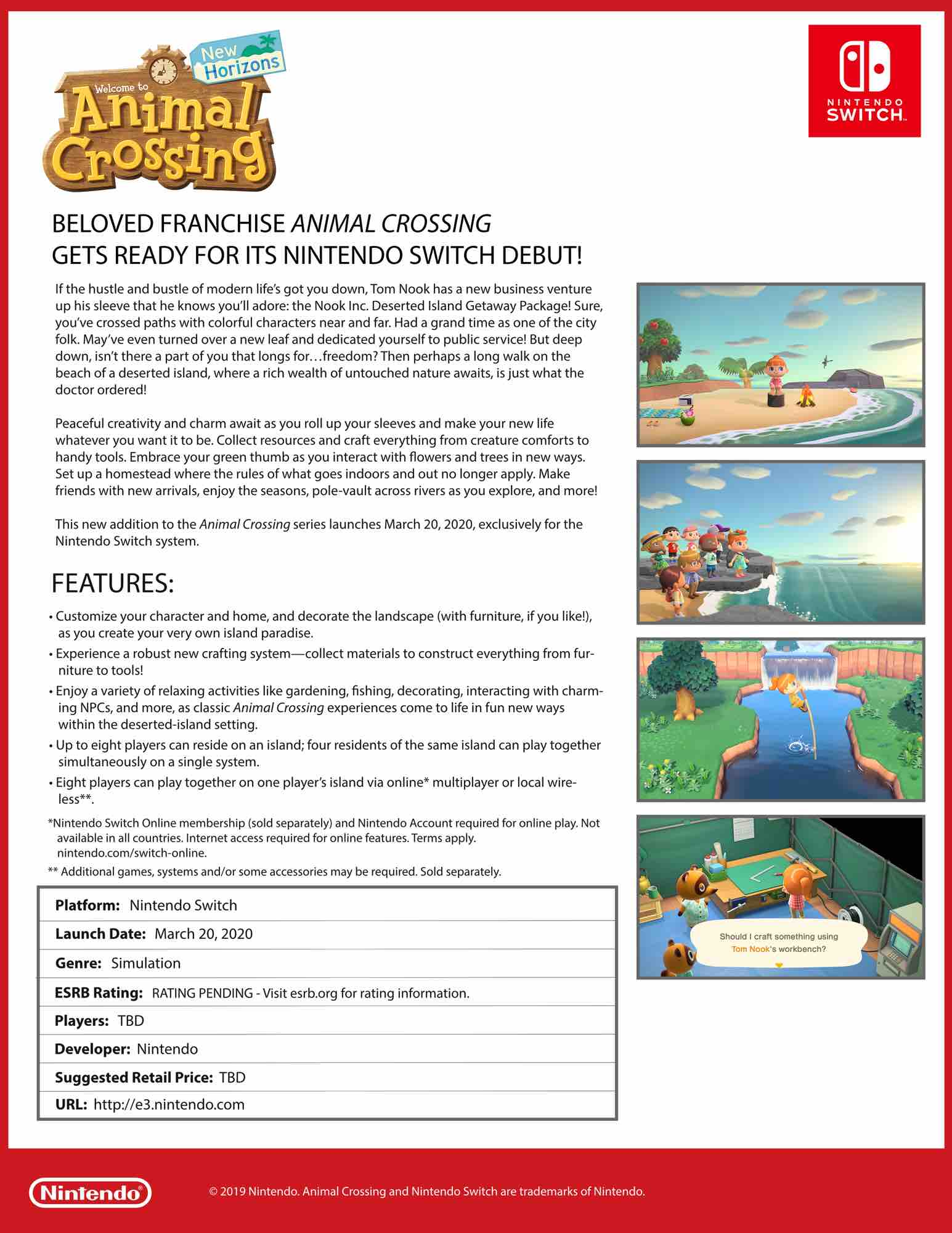 Animal Crossing New Horizons Fact Sheet Nintendo Times